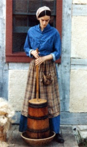 That's me, churning butter at the Schultz house back in 1982
