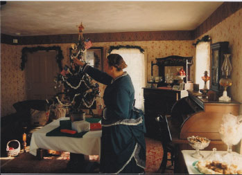 Mary Kilps at the Benson House, 1990.