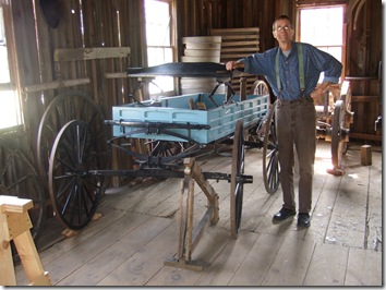 Tom Kroemer in the Peterson Wagon Shop, Old World Wisconsin