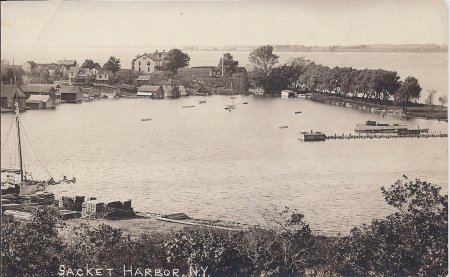 Although this photo was taken many years after Caroline's time, it clearly shows the natural harbor.  Caroline's Papa knew the harbor would make the perfect spot for a shipyard---and once the War of 1812 began, US Navy officers  knew that too.
