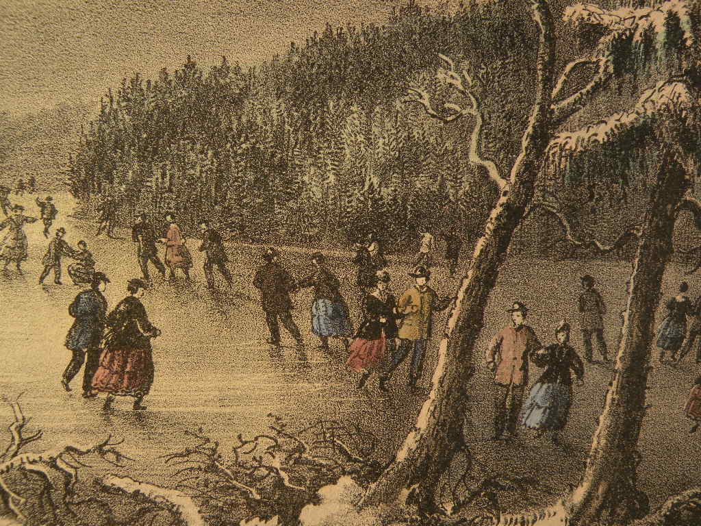 Lots of people in the 1800s skated at night if the moon was full and the sky was clear.