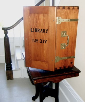 Library box, Potawattomie Lighthouse, WI