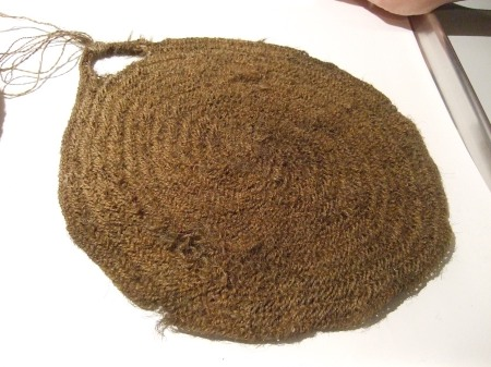 Here's an example of a milk strainer from Norway.  (Vesterheim Norwegian American Museum collection.)