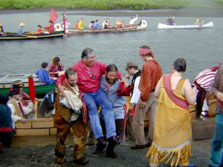 Everyone looked forward to the day the voyageurs arrived, carrying goods--and a gentleman or two.