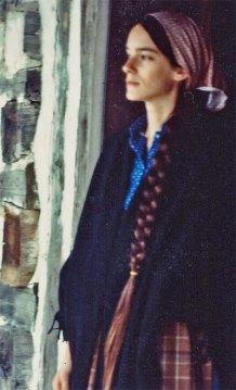 Author Kathleen Ernst, Old World Wisconsin, 1982