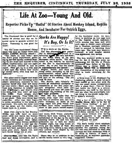 LifeAtZoo-1935NewspaperArticle-Web