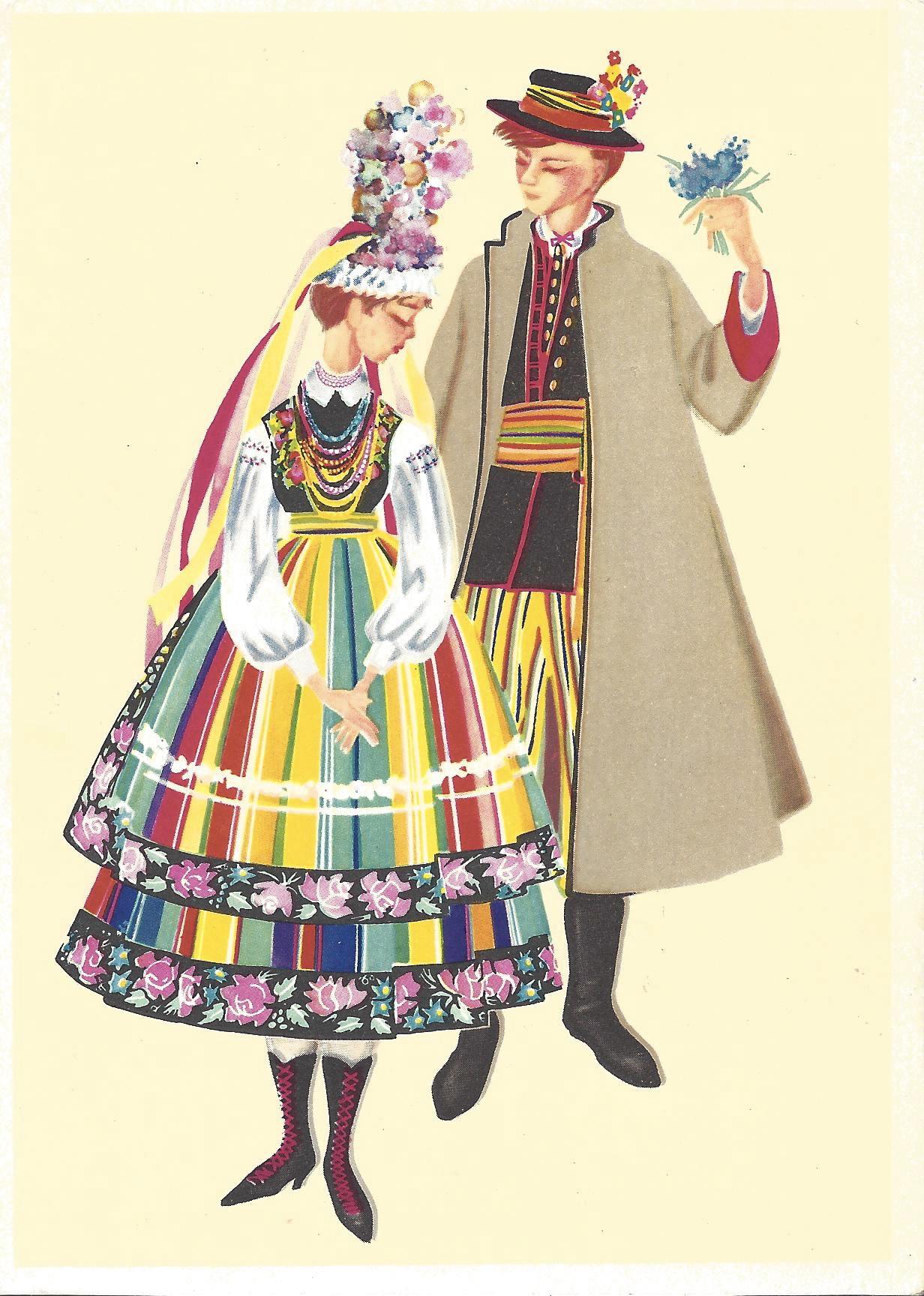 Открытки с национальными одеждами