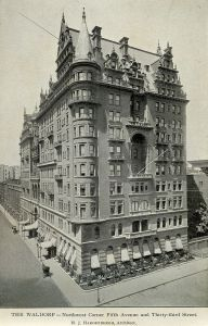 The Waldorf Hotel back in 1893.  (Wikipedia)