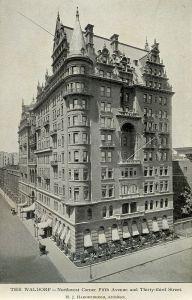 The Waldorf Hotel back in 1893.  (Wikipedia)