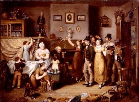 quilting-frolic-John-Lewis-Krimmel-1813