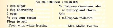 MB's Sour Cream Cookies
