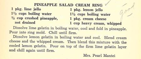 Pineapple Salad Cream Ring