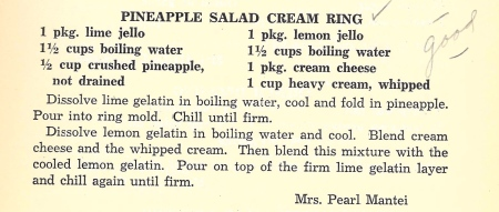 Pineapple Salad Cream Ring