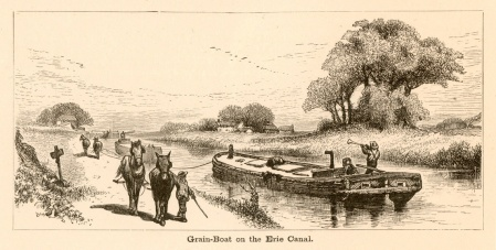 Grain-Boat on the Erie Canal -- from: America Illustrated / edited by J. David Williams. (Boston :  DeWolfe, Fisk & Co., c1883) -- p. 88