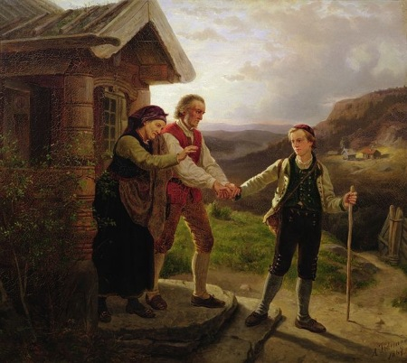 The youngest son's farewell - 1867