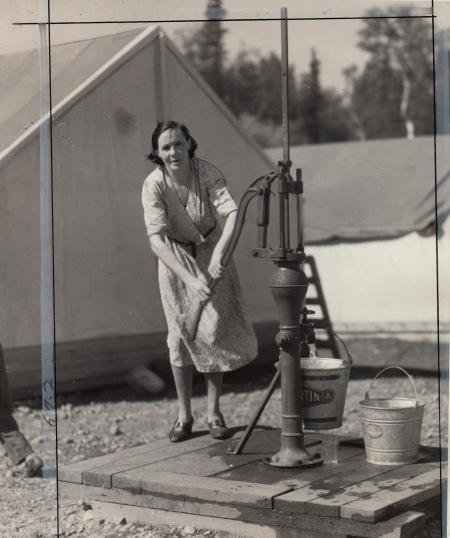 Palmer woman at pump jpeg