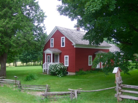 Almanzo's childhood home has been beautifully preserved in Malone, NY.