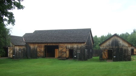 The barns at the Wilder Homestead are not original, but have been faithfully reproduced.