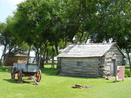 Replica cabin at the site of the Ingalls home. Little House on the Prairie Museum, KS. (Photo by Barbara Ernst)