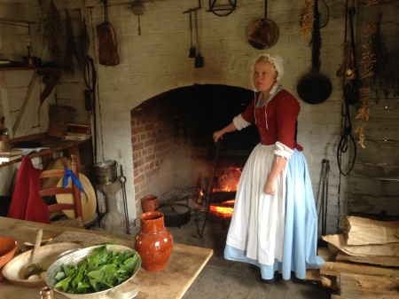 The kitchen at Great Hopes Plantation.