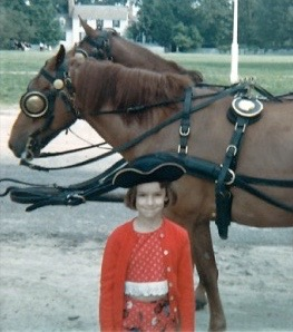That's me proudly wearing a tricorn hat in Williamsburg when I was about six years old.