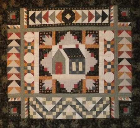 Andover Fabrics has twice invited Linda to make a display quilt using their Little House on the Prairie-inspired line. The 2015 quilt is shown at the top of the page; this one was created in 2016.