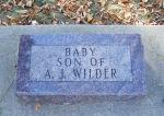 Baby Wilder gravestone