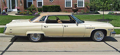 Photo of a 1975 Buick Electra Limited. Source: SunAutoWorld.com.