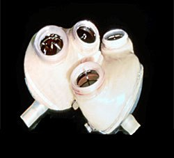Photo of the Jarvic 7 artificial human heart.