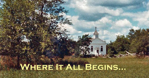 St. Peters Church at Old World Wisconsin in 1982.