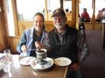 Mr. Ernst and me enjoying dessert at the New GlarusHotel.