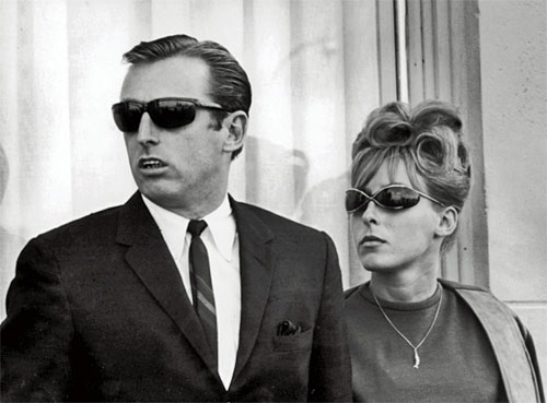 Black and white photo of Jack Murphy and his girlfriend Bonnie Lou Sutera taken in 1964.