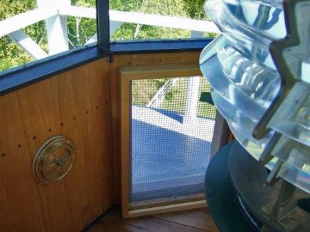 Photo taken in lantern room of the Pottawatomie Lighthouse on Rock Island, WI.