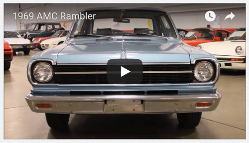 Video still of 1969 AMC Rambler 2-door sedan by GR Auto Gallery.