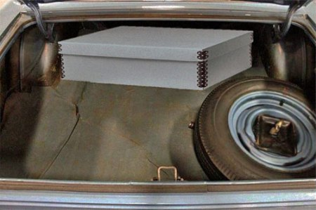 Photo of open trunk of 1969 AMC Rambler. Image GR Auto Gallery, edited by Scott Meeker.
