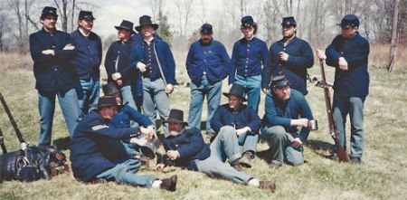 33rd Wisconsin reenactors. Photo courtesy of John Wedeward.