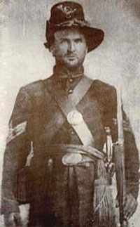 1862 tintype image of 1st Sergeant James Francis Cantwell, Company G, 80th Indiana Volunteer Infantry Regiment, Union Army.